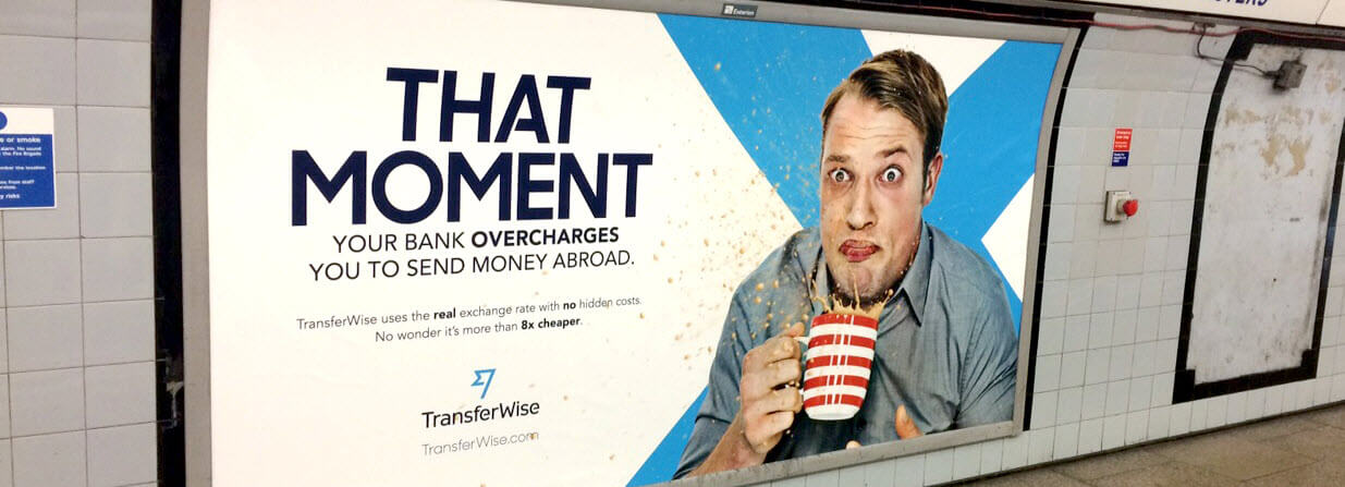 Transferwise tube ad