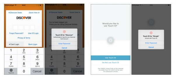 Simple and Discover TouchID features