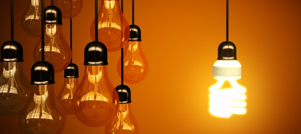 4. Homepage Bespoke Consultancy light bulb with orange background