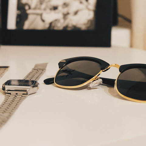 Sunglasses and watches