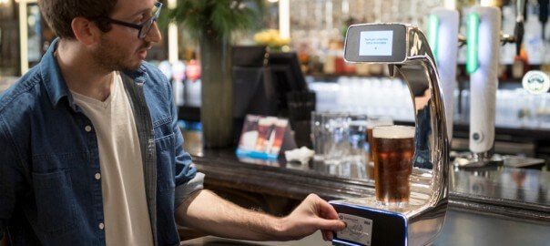 Contactless beer pump