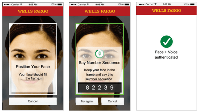 WellsFargo face and voice verification