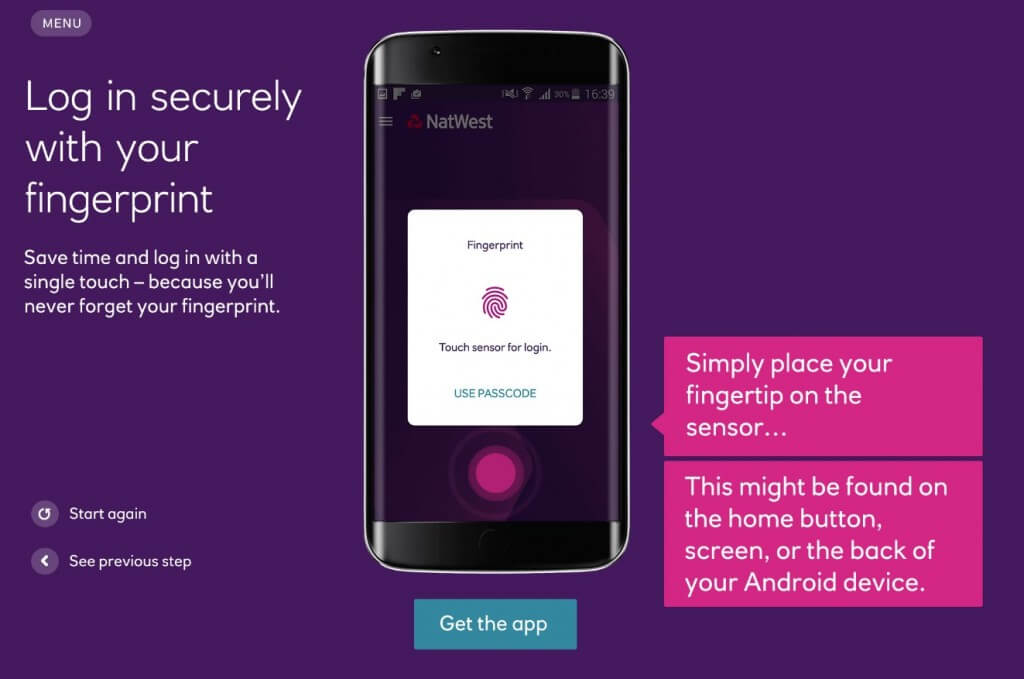 NatWest Android App Sign In