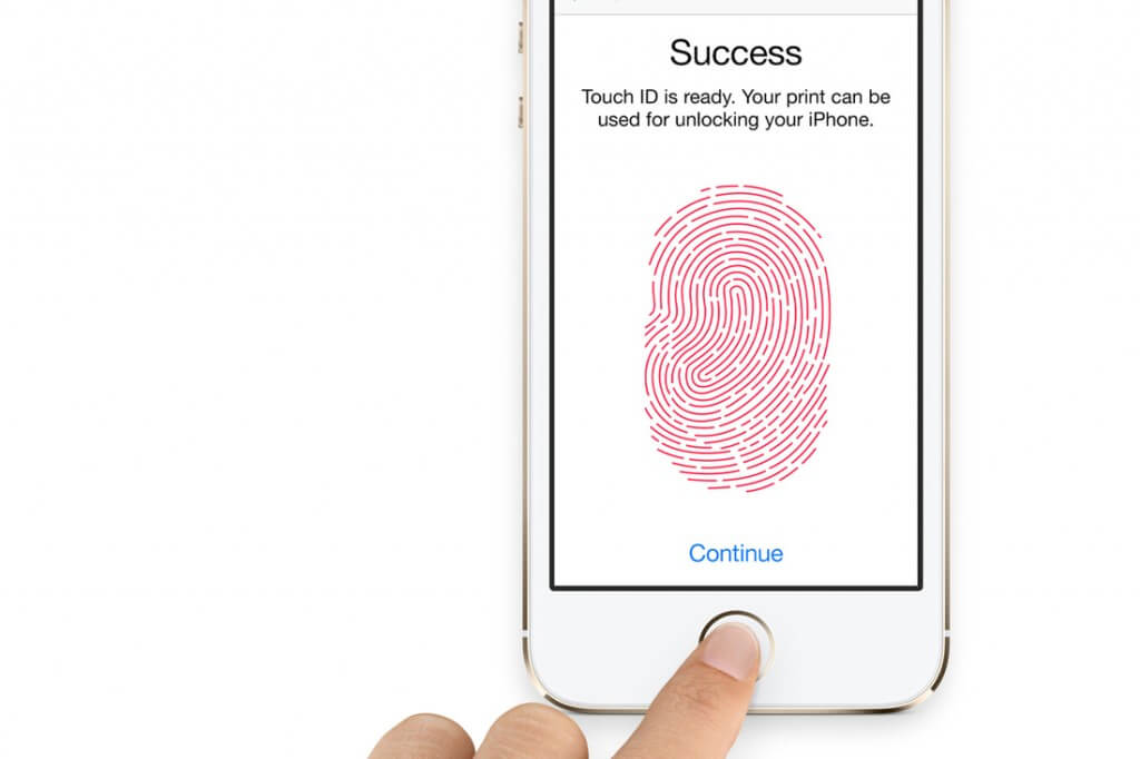 Mobile login Touch ID