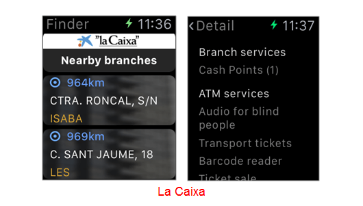 La Caixa apple watch
