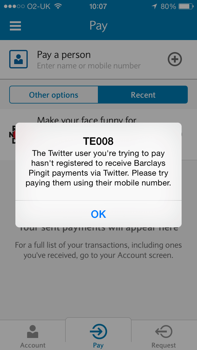 Twitter payment