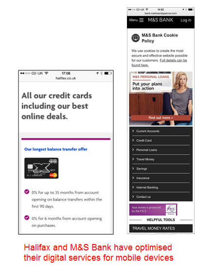 Mobile Optimised Banking