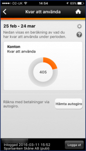 Swedbank's integrated mobile banking PFM solution