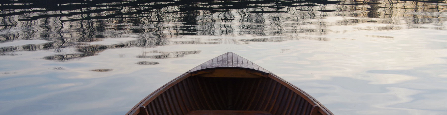 Rowing boat on water