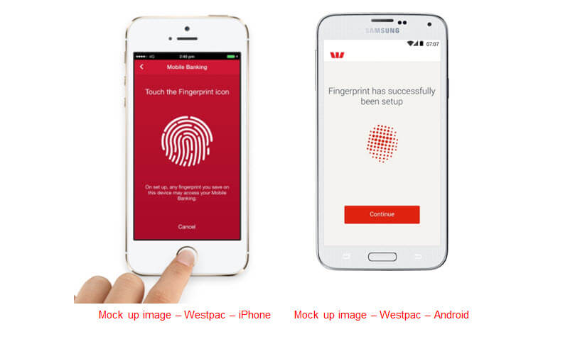 Westpac Touch ID
