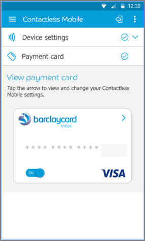 Barclaycard payment app