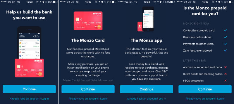 Monzo welcome