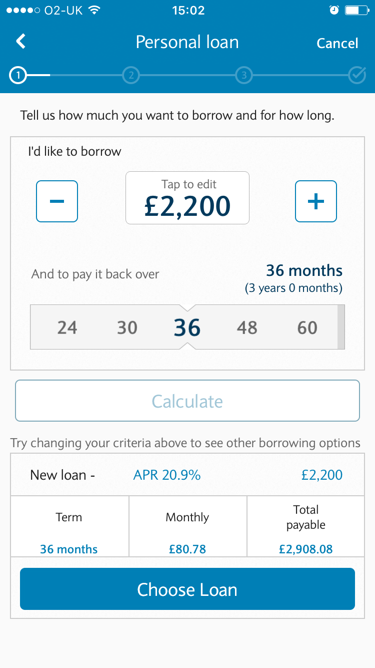 Barclays loan quote
