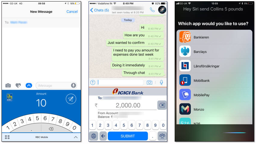Royal Bank of Canada, ICICI Bank and connections to Siri