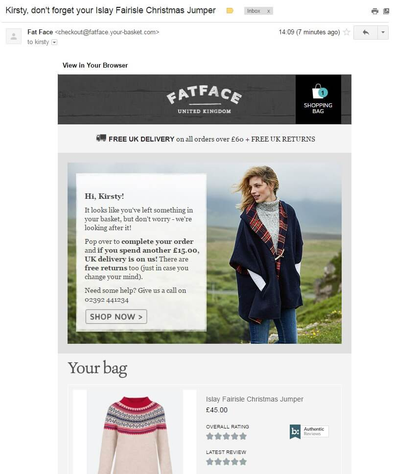 fatface-remarketing-email