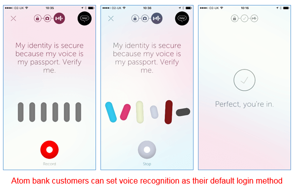 Atom Bank voice recognition