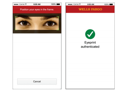 Wells Fargo eye verification