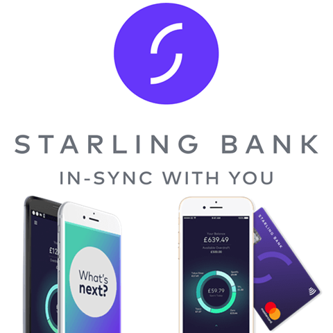 Starling logo and mobile app