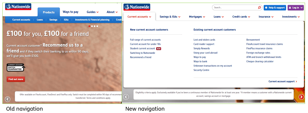 Nationwide Navigation Redesign