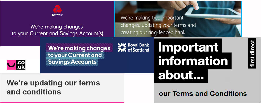 Customer Communications on Open Banking - Email banners