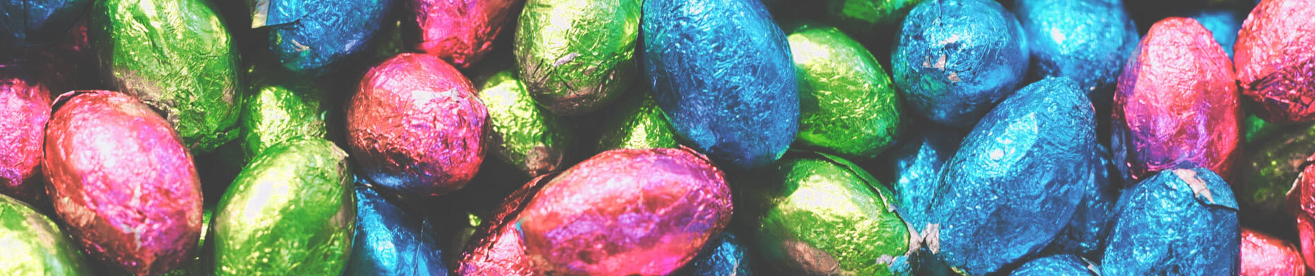 Pink Blue Green Easter Eggs